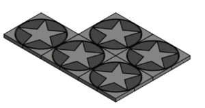 Diseño Pastelón Ornamentado Estrella