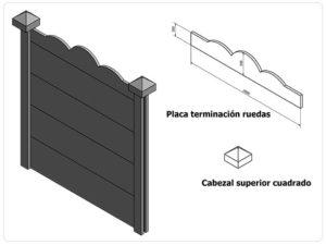 Aplicación para molde placa Ruedas